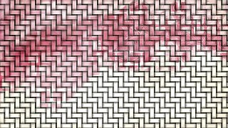 Pink and White Woven Bamboo Texture