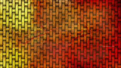Red and Gold Woven Bamboo Texture