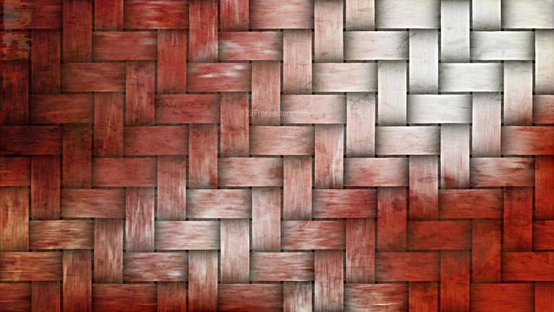 Red and White Basket Texture Background