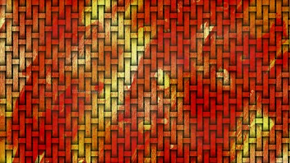 Red and Yellow Weave Background