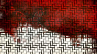 Red Black and White Wicker Background
