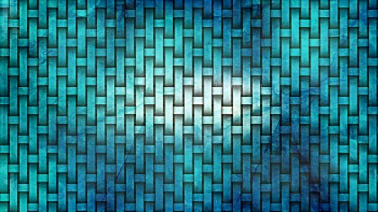 Turquoise Woven Bamboo Background