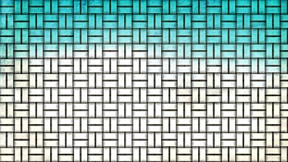 Turquoise and White Basket Twill Texture Background