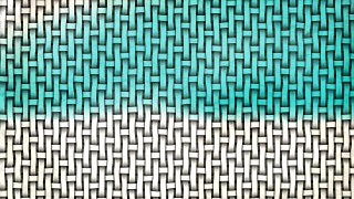 Turquoise and White Basket Twill Texture