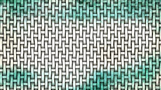 Turquoise and White Woven Basket Twill background