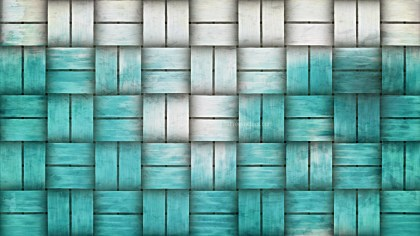 Turquoise and White Bamboo Weave Texture