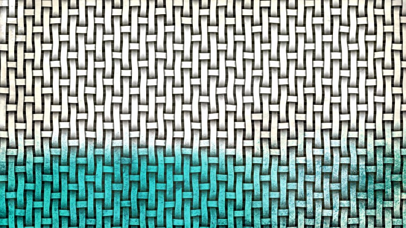 Turquoise and White Woven Basket Texture