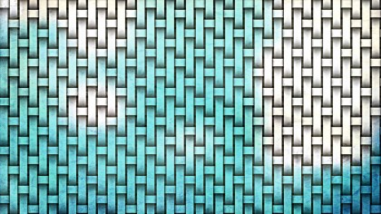 Turquoise and White Basket Weave Background