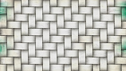 White Woven Basket Texture Background