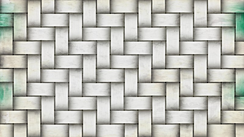 White Woven Basket Texture Background