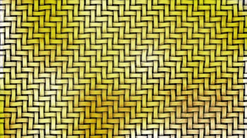 White and Gold Wicker Twill Weave Background