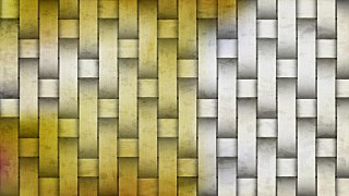 White and Gold Bamboo Weave Background