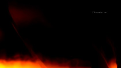 Black Orange Fire Background