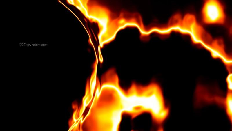 Fire Black Background Image
