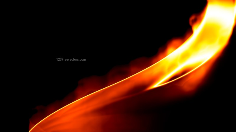 Fire Black Background