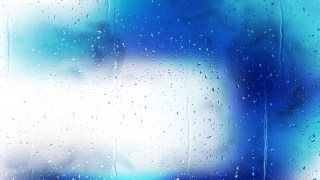 Blue and White Raindrop Background Image