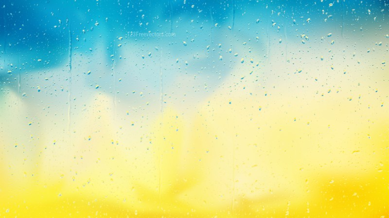 Blue and Yellow Raindrop Background