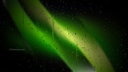 Cool Green Rain Water Drops Background