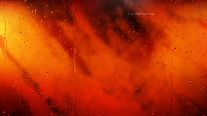 Cool Orange Water Drops Background