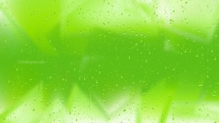 Green Raindrop Background