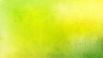 Green and Yellow Raindrop Background Image