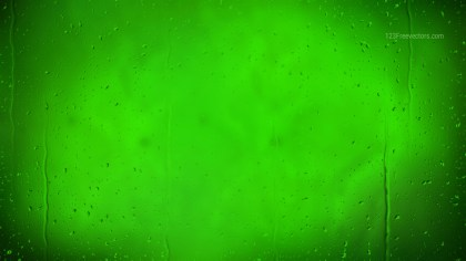 Neon Green Water Drops Background Texture