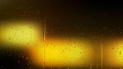 Orange and Black Water Drop Background