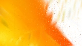 Orange and White Water Droplet Background