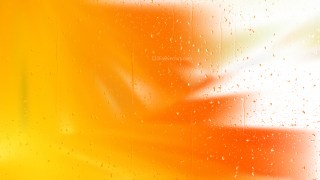 Water Drops on Orange and White Background