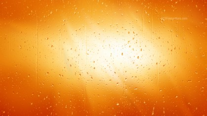 Orange and White Water Drop Background Image