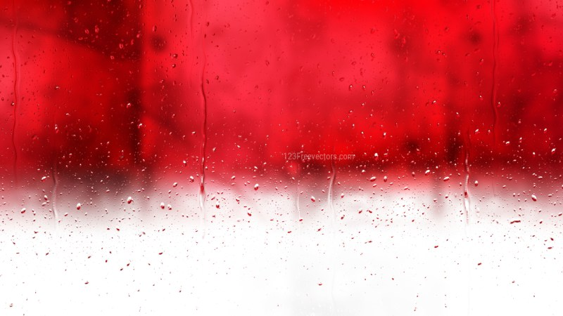 Water Drops on Red and White Background