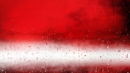 Red and White Rain Water Drops Background