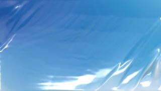 Blue Wrinkled Plastic Background