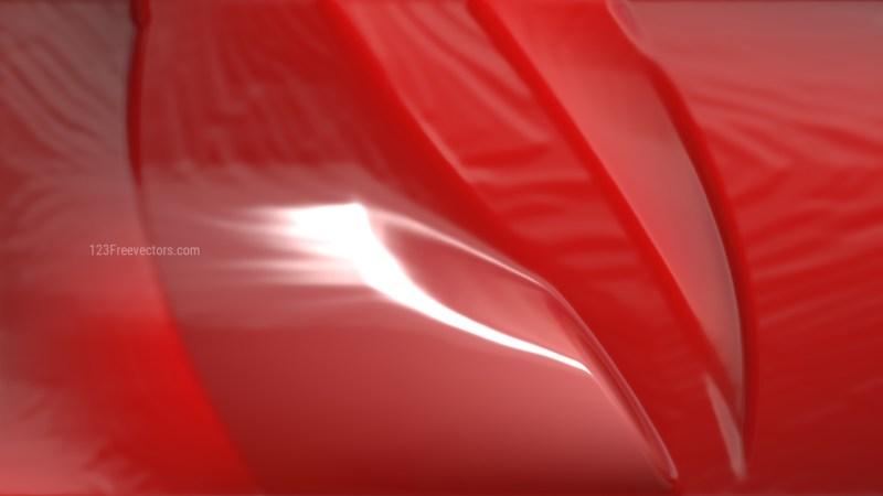 Red Wrinkled Plastic Background