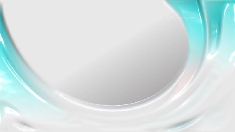 Turquoise and White Shiny Plastic Background
