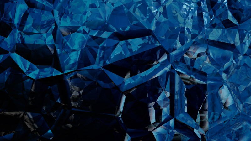 Abstract Black and Blue Crystal Background