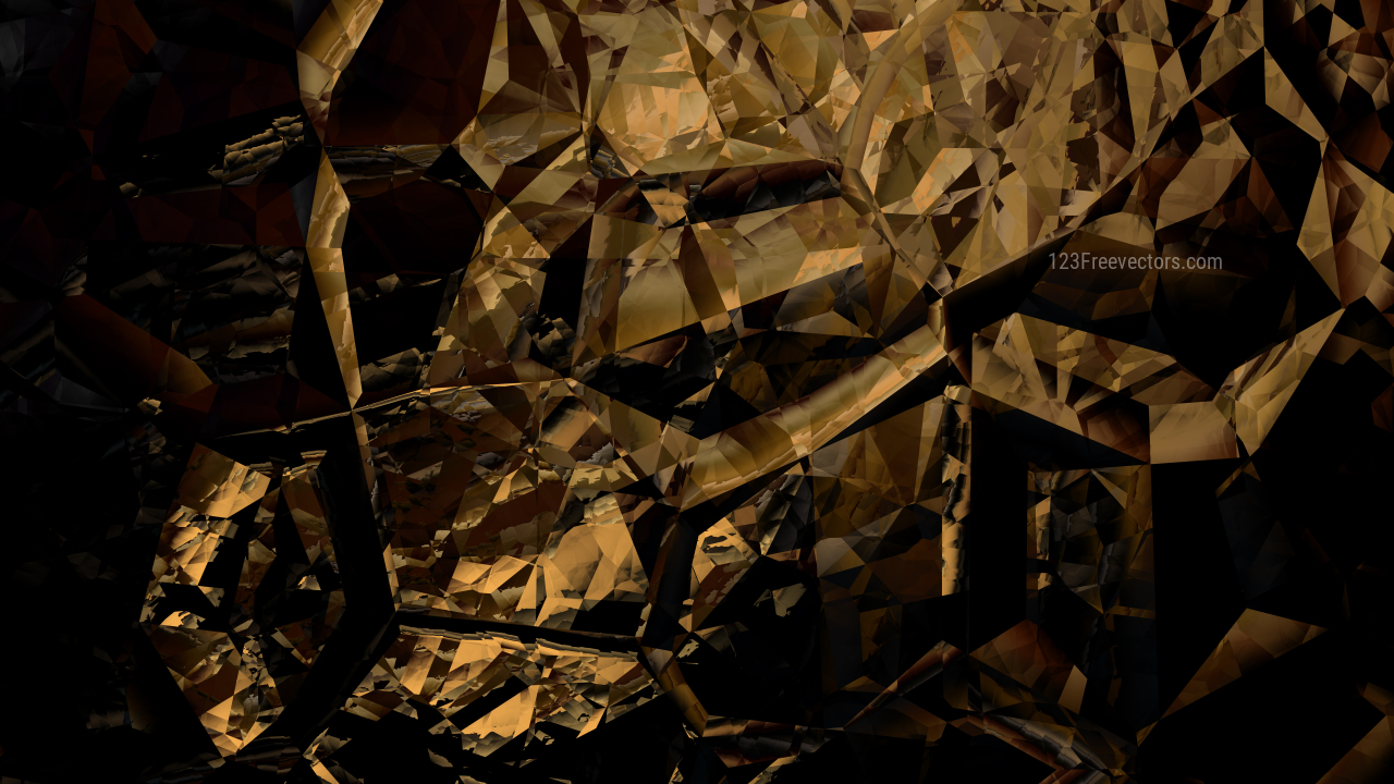 Black and Gold Abstract Crystal Background