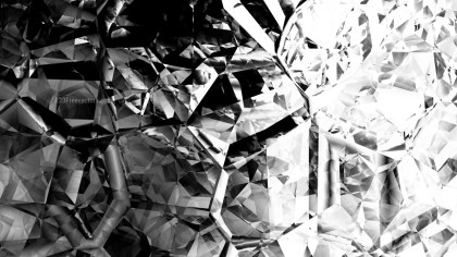 Black and White Abstract Crystal Background