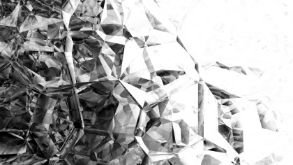 Black and White Crystal Abstract background
