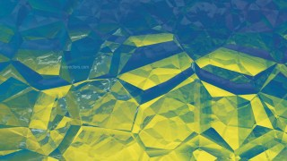 Blue and Gold Abstract Crystal Background Image