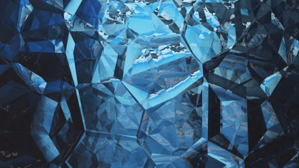 Abstract Cool Blue Crystal Background Image