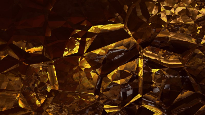 Abstract Cool Gold Crystal Background