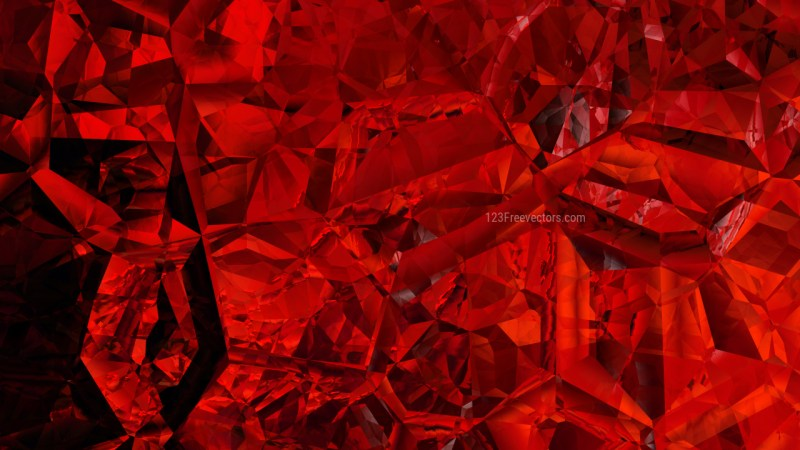 Cool Red Abstract Crystal Background