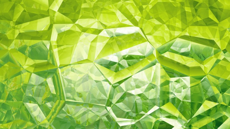 Abstract Green Crystal Background Image