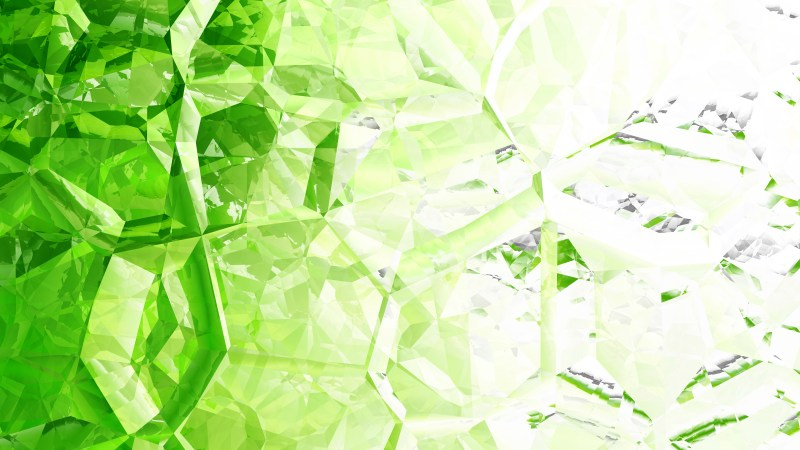 Green and White Crystal Abstract background