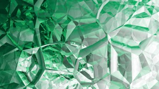 Green and White Abstract Crystal Background