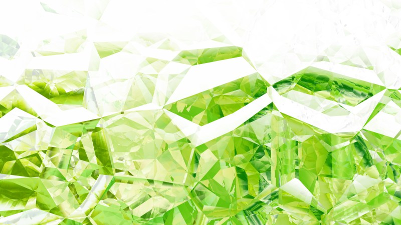 Abstract Green and White Crystal Background Image