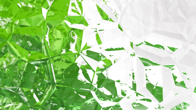 Green and White Crystal Background