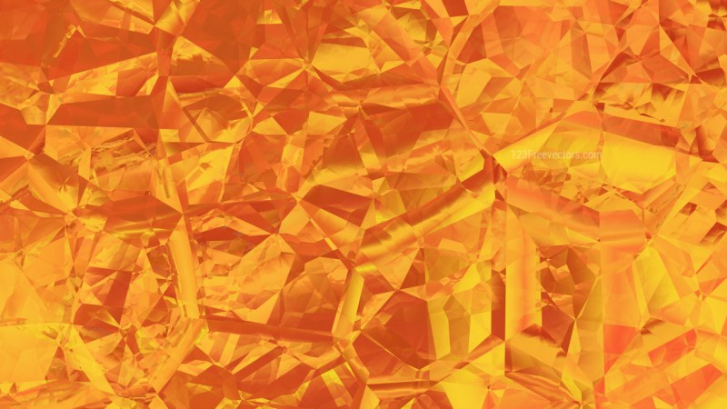 Orange Crystal Abstract background