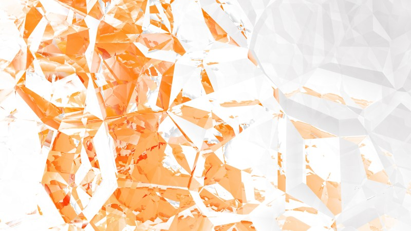 Orange and White Abstract Crystal Background